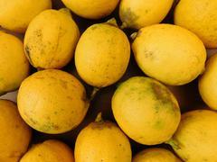 Stock Photo of lemons food on wooden base