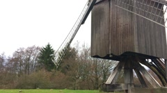 Old Traditional German Wood Mill House Stock Footage