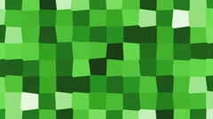 Abstract cartoon cube mosaic motion background loop green minecraft Stock Footage