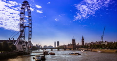 City of Westminster with sunlight rays Stock Footage