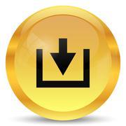 Download icon. Internet button on white background.. Stock Illustration