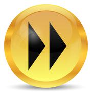 Fast forward sign icon. Internet button on white background.. - stock illustration