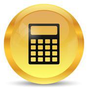 Calculator icon. Internet button on white background.. - stock illustration