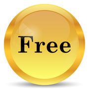Stock Illustration of Free icon. Internet button on white background..