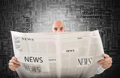 Shocking newspaper - stock photo