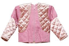 Pink feminine childs short jacket Stock Photos