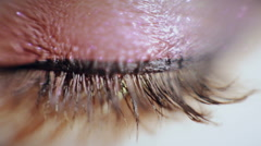 Stock Video Footage of Women eye. Macro