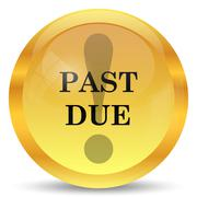 Past due icon. Internet button on white background.. Stock Illustration