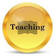 Stock Illustration of Teaching icon. Internet button on white background..