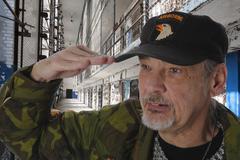 Veteran in prison - stock photo