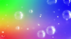 Sparkling magical bubbles in slow motion. - stock footage