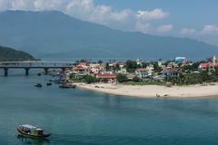 Beauty of Lang Co Beach - stock photo