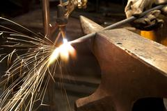 Hand Forging Steal - stock photo