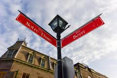 Notre-Dame Street - Montreal - stock photo