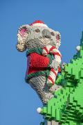 Koala made by Lego bricks Stock Photos