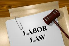 Labor Law concept Stock Illustration
