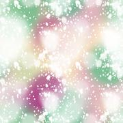 Colorful blurred background with snow overlay, seamless Stock Illustration