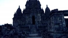 Ancient Prambanan temple in Indonesia Stock Footage