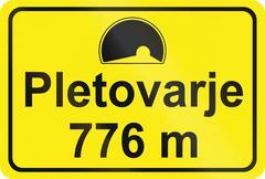 Stock Illustration of Slovenian road sign - Tunnel entrance sign