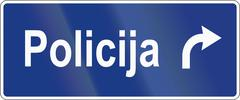 Slovenian road sign - Police station direction Piirros
