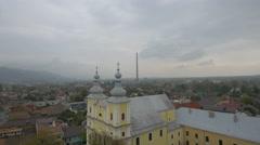 Holy Trinity Roman Catholic church in Baia Mare Stock Footage