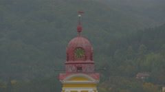 Clock tower of the Reformed church in Baia Mare - stock footage