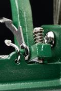 Macro Detail of a Metallic Spring Stock Photos