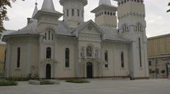 Saint Nicholas church in Baia Mare Stock Footage