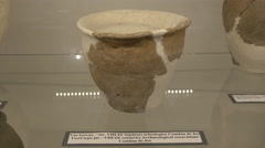 Vesel type jar in the museum of Fagaras fortress - stock footage