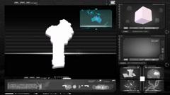 Benin - computer monitor - black 0 Stock Footage