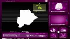 Botswana - computer monitor - pink 0 Stock Footage