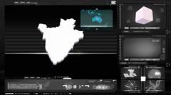 Burundi - computer monitor - black 0 Stock Footage