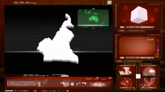 Cameroon - computer monitor - red 0 Stock Footage