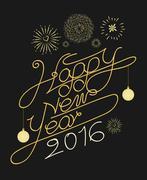 Stock Illustration of Happy new year typography vector design