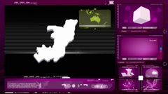 Congo, republic of (brazzaville) - computer monitor - pink 0 Stock Footage