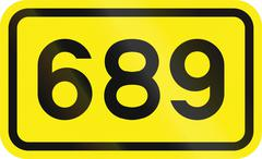 Slovenian road sign - Primary road number - stock illustration