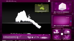 Eritrea - computer monitor - pink 0 Stock Footage