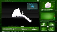 Eritrea - computer monitor - green 0 Stock Footage