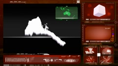 Eritrea - computer monitor - red 0 Stock Footage