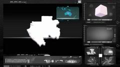 Gabon - computer monitor -  black 0 Stock Footage