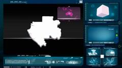 Gabon - computer monitor -  blue 0 Stock Footage