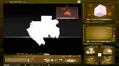 Gabon - computer monitor -  yellow 0 Stock Footage