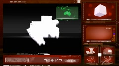Gabon - computer monitor -  red 0 Stock Footage