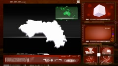 Guinea - computer monitor - red 0 Stock Footage