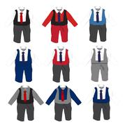 Baby boy formal Party wear with tie ,Vector illustration. Stock Illustration