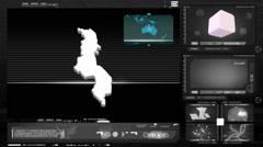 Malawi - computer monitor - black 0 Stock Footage