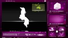 Malawi - computer monitor - pink 0 Stock Footage
