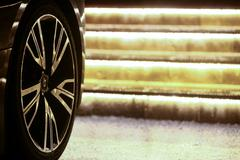 Car steel rim Stock Photos