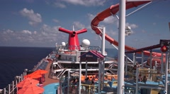 cruise ship deck - stock footage