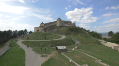 View of Rasnov Citadel Stock Footage